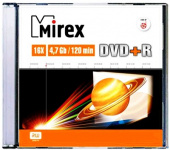 Диск DVD+R Mirex 4.7Gb, 16x, Slim