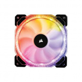 Вентилятор 120х120х25 Corsair HD120 RGB (CO-9050066-WW) 800-1750rpm, 18-30dB, 54.4 cfm, 4pin, внешний контроллер, LED RGB
